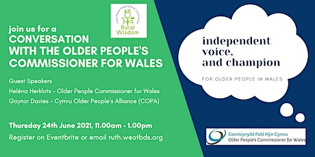A Conversation with the Older People's Commissioner for Wales tickets