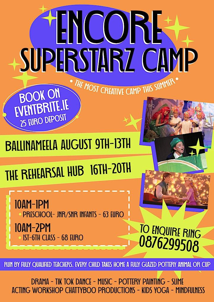 Superstarz Summer camp Ballinameela 9th & Dungarvan 16th Aug 25euroDeposi image