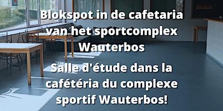 Blokspot Cafetaria sportcomplex Wauterbos billets