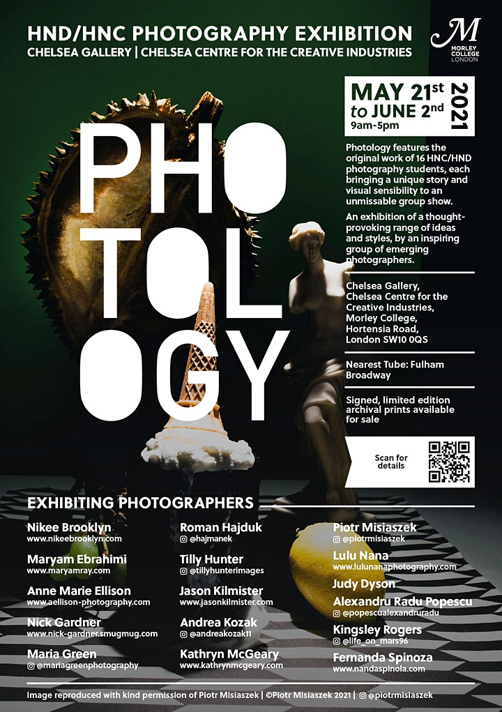 PHOTOLOGY Photography Exhibition   Private View -  Thursday 27 May 2021 image
