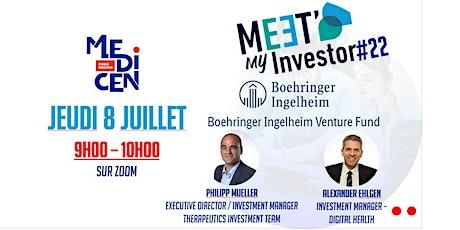 Meet My Investor avec Boehringer Ingelheim Venture Fund tickets