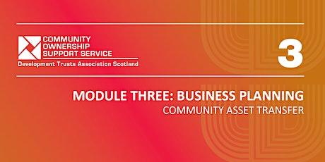 Module 3 - Business Planning tickets