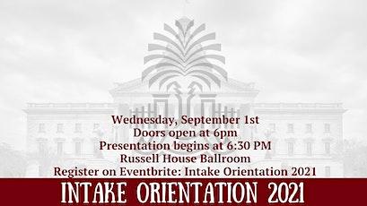 Intake Orientation 2021 tickets