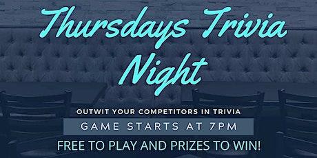 Thursday Trivia Nights tickets