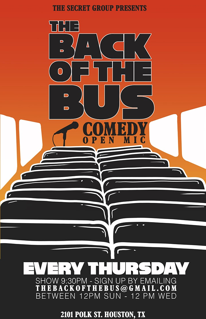 The Back of the Bus Comedy Open Mic image