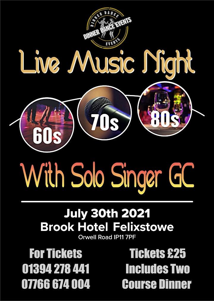 60s 70s &  80s..LIVE  MUSIC NIGHT image