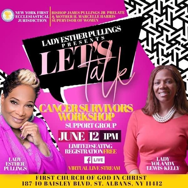 """Esther Pullings presents """"Let's Talk image"""