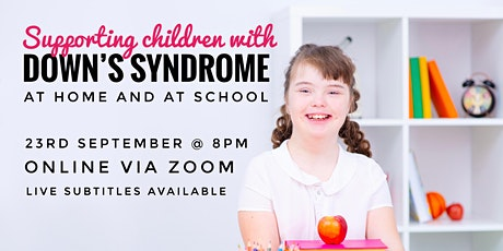 Supporting Children with Down's Syndrome at Home and at School tickets