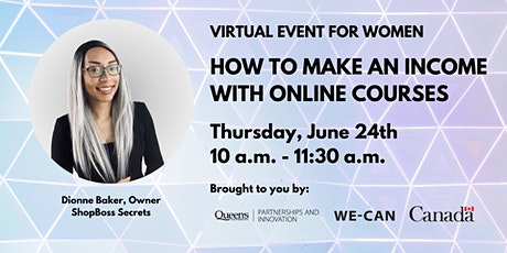 How to Make an Income with Online Courses tickets