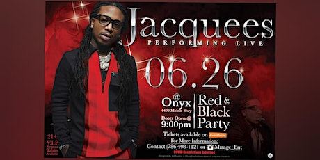 Jacquees performing at Onyx Red and Black party tickets