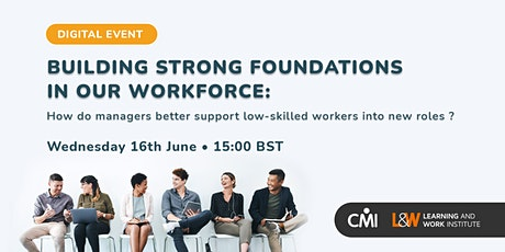 Building Strong Foundations in Our Workforce tickets