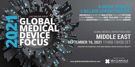 Global Medical Device Focus 2021: Middle East tickets