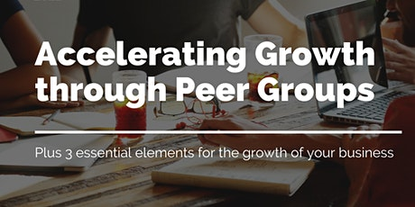 Accelerating Growth through Peer Groups tickets