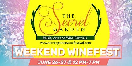SECRET GARDEN WEEKEND WINEFEST - SATURDAY tickets
