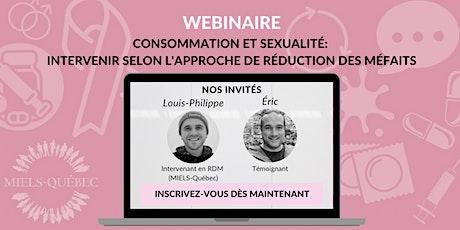 Consommation et sexualité: Intervenir selon l'approche de RDM biglietti