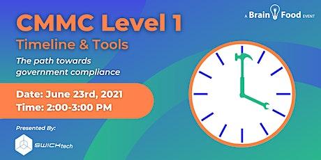 CMMC Level 1 Timeline & Tools tickets