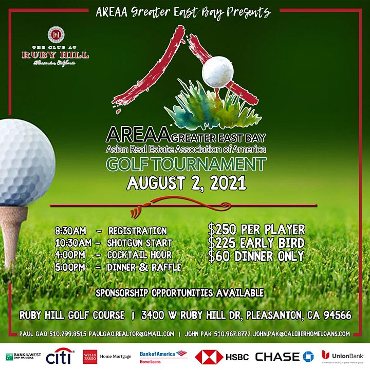 AREAA Greater East Bay 1st Annual Golf Tournament image