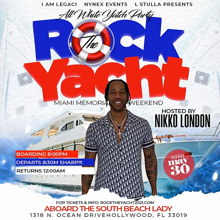 ROCK THE YACHT MIAMI 2021 MEMORIAL DAY WEEKEND  ALL WHITE YACHT PARTY image
