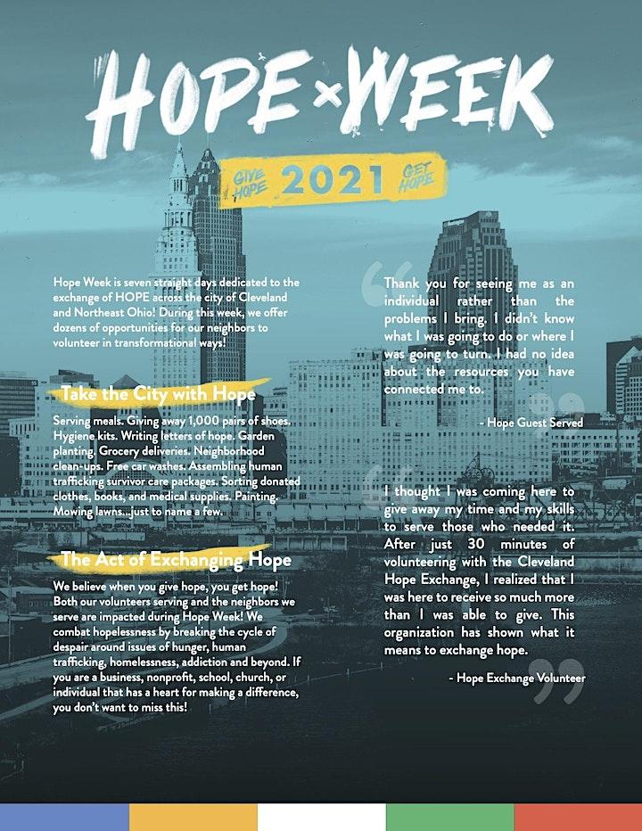 Hope Week Volunteer image