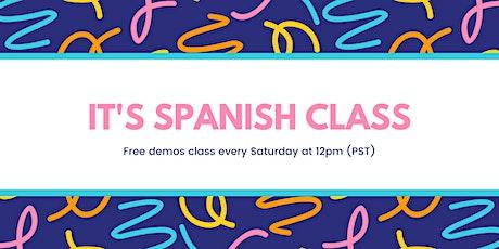Free Spanish  demo entradas