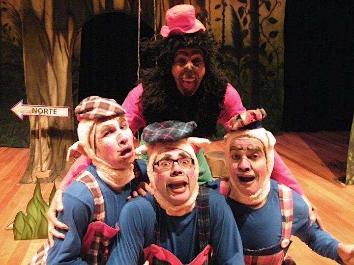 Imagem do evento Desconto: Os Três Porquinhos e o Lobo Rap, no Teatro Santo Agostinho