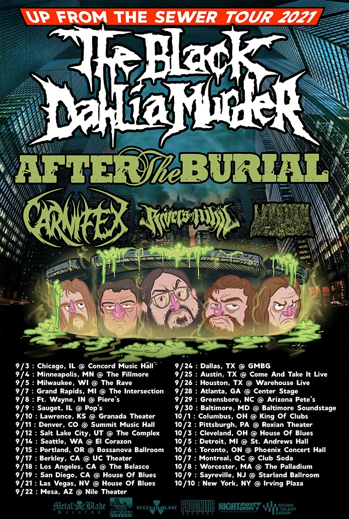 The Black Dahlia Murder: Up From The Sewer Tour PORTLAND image