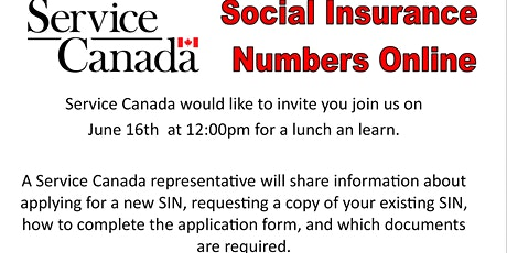 Service Canada Social Insurance Numbers Now  Online tickets