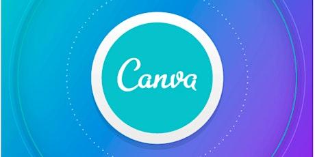 Canva Basics -  free online graphic design app tickets