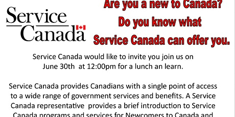 Service Canada Overview for Newcomer tickets