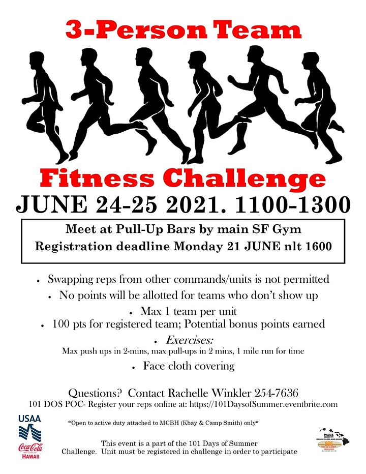 101 Days of Summer: 3-Person Team Fitness Challenge image