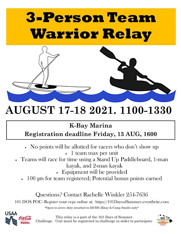 101 Days of Summer: 3-Person Team Warrior Relay image