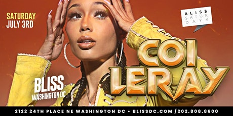 COI LERAY LIVE IN CONCERT AT BLISS NIGHTCLUB tickets