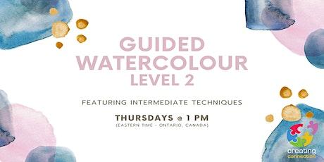 Intermediate Watercolour - Guided Art Class tickets