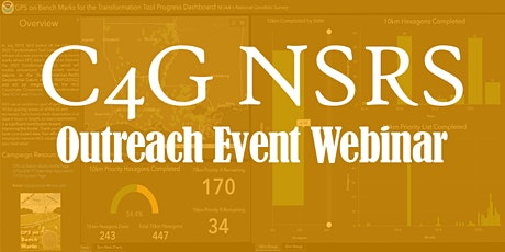 The 2021 C4G National Spatial Reference System Outreach Event tickets
