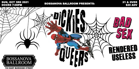 THE DICKIES and  THE QUEERS in Portland- 2021 tickets