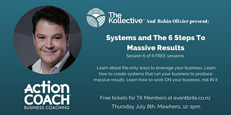 Systems and The 6 Steps To Massive Results tickets