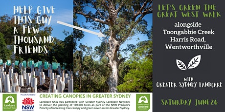 Green the Great West Walk - Toongabbie Creek, Toongabbie tickets