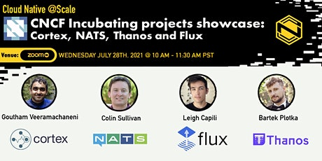 CNCF Incubating projects showcase: Cortex, NATS, Thanos and Flux tickets