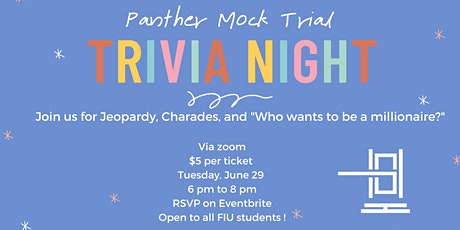 Panther Mock Trial Trivia Night tickets