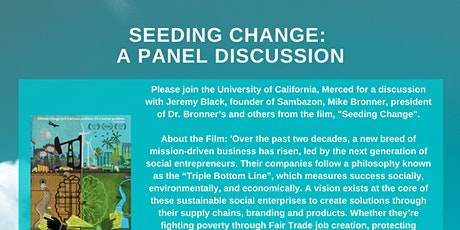 Seeding Change: A Panel Discussion tickets