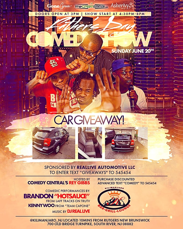 FATHERS DAY COMEDY SHOW & CAR GIVEAWAY SUNDAY JUNE 20TH image