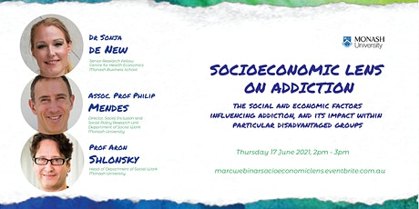 MARC interdisciplinary webinar series - Socioeconomic lens on addiction tickets
