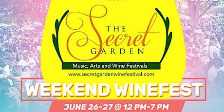 SECRET GARDEN WEEKEND WINEFEST - SUNDAY tickets