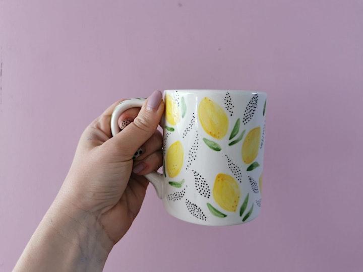 Ceramic Mug Painting Workshop   Eat & Create at 140 image