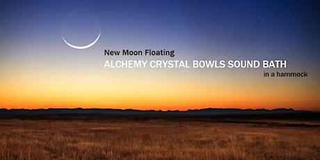 New Moon Floating ALCHEMY CRYSTAL BOWLS SOUND BATH in a hammock tickets