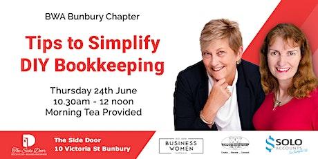 Bunbury, Business Women Australia: Tips to Simplify DIY Bookkeeping tickets