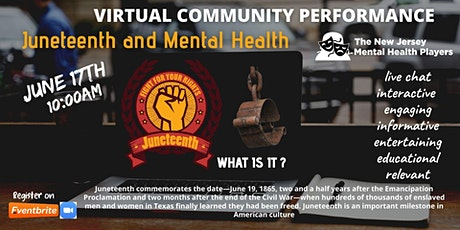 NJ Mental Health Players-Juneteenth and Mental Health tickets
