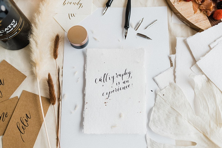 VIRTUAL Intro to Modern Calligraphy Workshop 9/20 image