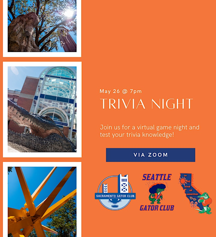 Trivia Night with SoCal, Seattle, and Sacramento Gator Clubs! image