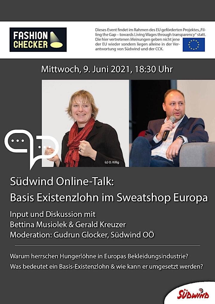 Südwind Online-Talk: Basis-Existenzlohn im Sweatshop Europa image